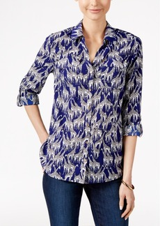 Charter Club Giraffe-Print Shirt, Only at Macy's