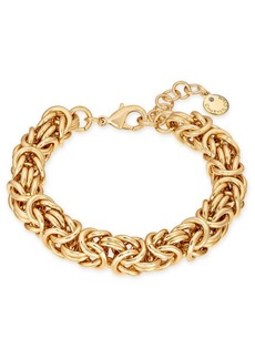 Charter Club Gold-Tone Byzantine Link Bracelet, Created for Macy's