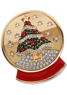 Charter Club Gold-Tone Crystal & Imitation Pearl Snow Globe Pin, Created for Macy's