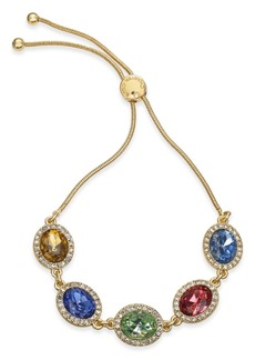 Charter Club Gold-Tone Crystal & Stone Slider Bracelet, Created for Macy's