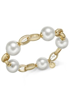 Charter Club Gold-Tone Imitation Pearl Link Bracelet, Created for Macy's