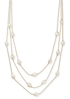 "Charter Club Gold-Tone Imitation Pearl Multi-Row Necklace, 20"" + 2"" extender, Created for Macy's"