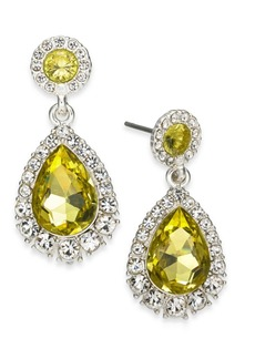 Charter Club Gold-Tone Pave & Stone Drop Earrings, Created for Macy's