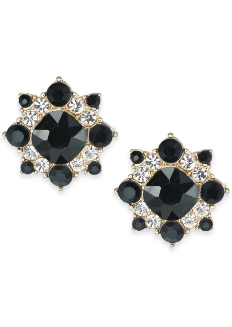 Charter Club Gold-Tone Stone & Crystal Stud Earrings, Created For Macy's