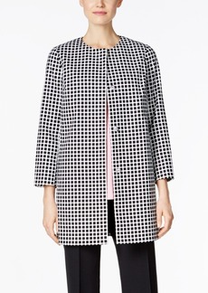 Charter Club Grid-Print Topper Jacket, Only at Macy's