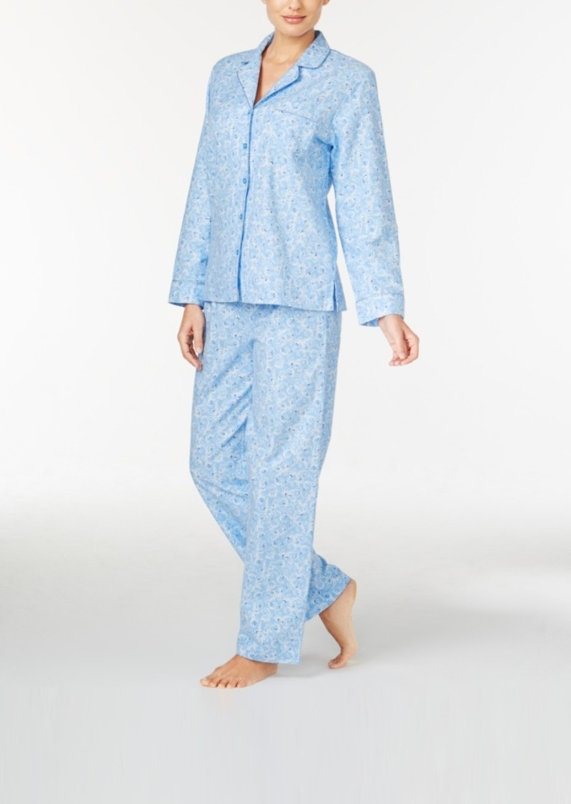 3afd8180555d3 Charter Club Charter Club Holiday Flannel Pajama Set