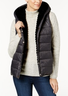 Charter Club Petite Reversible Faux-Fur Puffer Vest, Created for Macy's