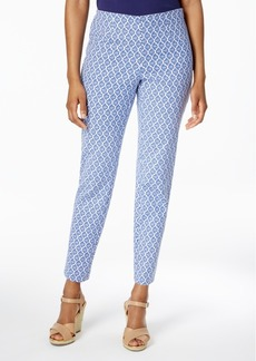Charter Club Iconic Print Side Zip Slim Ankle Pant, Created for Macy's