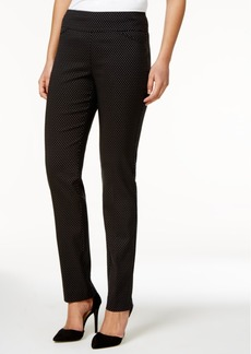 Charter Club Jacquard Pull-On Pants, Only at Macy's