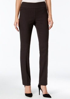 Charter Club Cambridge Patterned Pull-On Slim-Leg Pants, Only at Macy's