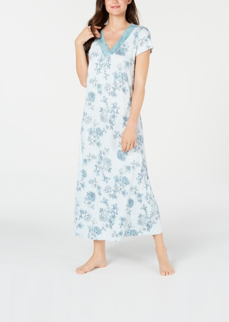 Charter Club Super Soft Knit Floral-Print Nightgown, Created for Macy's