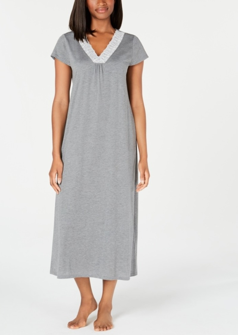 Charter Club Super Soft Knit Lace-Trim Nightgown, Created for Macy's