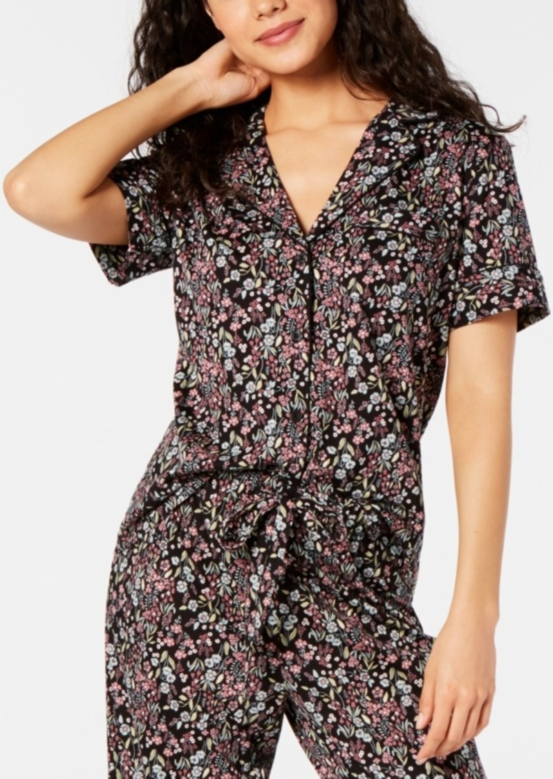 Charter Club Cotton Printed Pajama Top, Created for Macy's