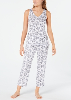 Charter Club Knit Tank And Cropped Pant Pajama Set, Created for Macy's