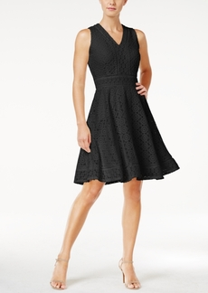 Charter Club Lace Fit & Flare Dress, Only at Macy's
