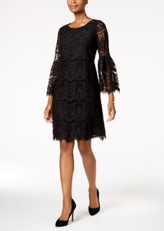 Charter Club Petite Ruffled-Sleeve Lace Sheath Dress, Created for Macy's