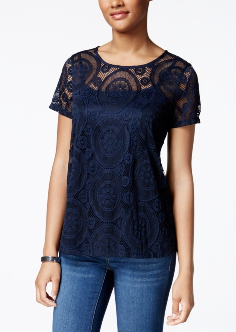 Charter Club Lace Swing Top, Only at Macy's
