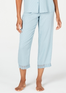 Charter Club Lace-Trim Cropped Pajama Pants, Created for Macy's