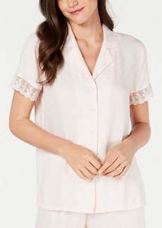 Charter Club Lace-Trim Pajama Top, Created for Macy's