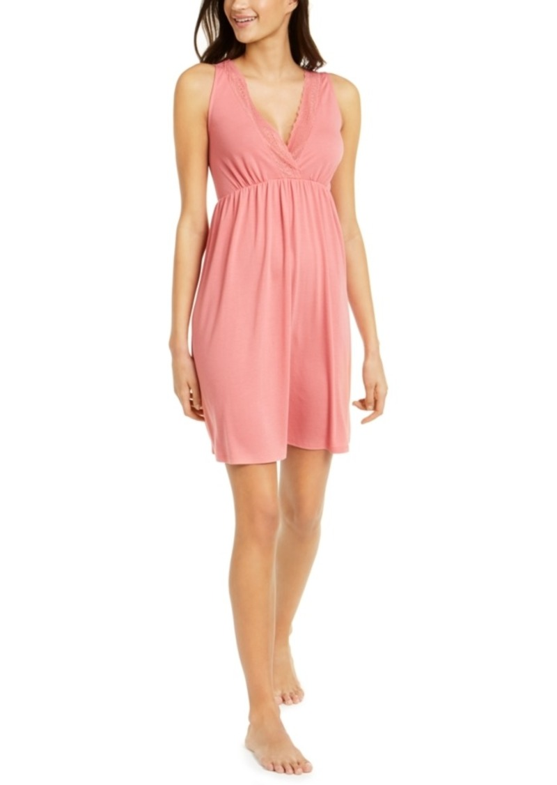 Charter Club Lace-Trim Sleeveless Nightgown, Created For Macy's