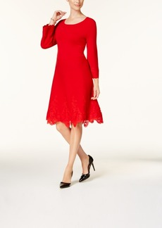 Charter Club Lace-Trim Sweater Dress, Created for Macy's