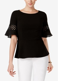 Charter Club Lace-Trim Top, Created for Macy's