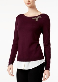 Charter Club Petite Layered-Look Sweater, Created for Macy's