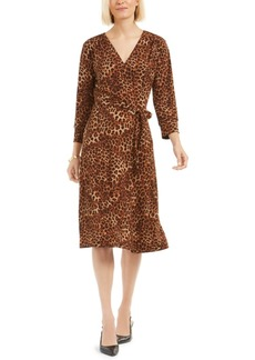 Charter Club Leopard-Print Reversible Wrap Dress, Created for Macy's