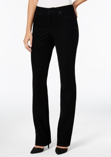 Charter Club Lexington Flocked Houndstooth Straight-Leg Jeans, Only at Macy's