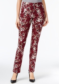 Charter Club Lexington Tummy-Control Printed Straight-Leg Jeans, Created for Macy's
