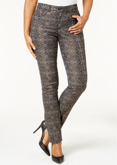 Charter Club Lexington Tummy-Control Straight-Leg Printed Jeans, Created for Macy's