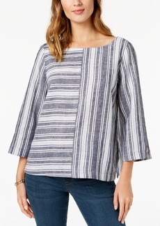 Charter Club Petite Striped Linen Tunic, Created for Macy's