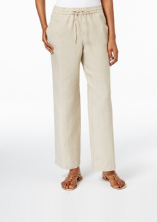 Charter Club Solid Linen Pants, Only at Macy's