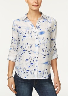 Charter Club Linen Roll-Tab Shirt, Only at Macy's