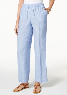 Charter Club Linen Striped Pants, Only at Macy's