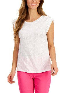 Charter Club Linen Top, Created for Macy's