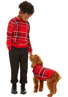 Charter Club Little Boys Plaid Family Sweater, Created For Macy's