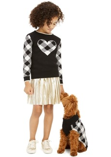 Charter Club Little Girls Buffalo Check Family Sweater, Created For Macy's