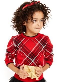 Charter Club Little Girls Plaid Family Sweater, Created For Macy's