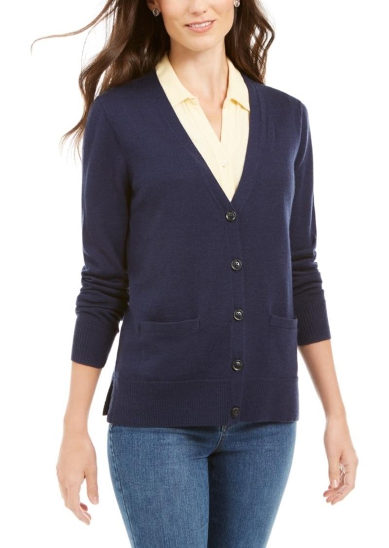 Charter Club Merino Wool V-Neck Cardigan, Created for Macy's