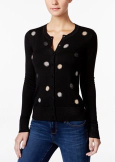 Charter Club Metallic-Dot Cardigan, Only at Macy's