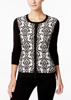 Charter Club Metallic Flocked Cardigan, Only at Macy's