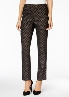 Charter Club Metallic Jacquard Ankle Pants, Only at Macy's