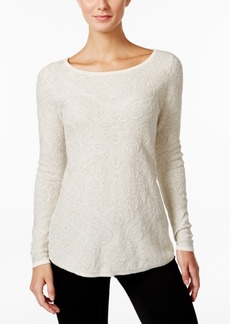 Charter Club Metallic Jacquard Sweater, Only at Macy's