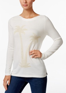 Charter Club Metallic Palm Tree Sweater, Only at Macy's