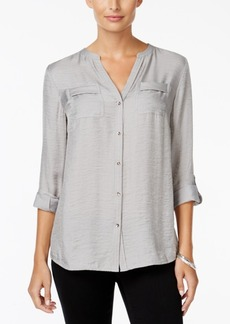 Charter Club Petite Metallic Blouse, Only at Macy's