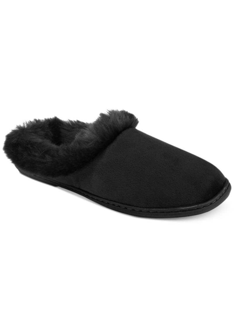 Microvelour Clog Memory Foam Slippers