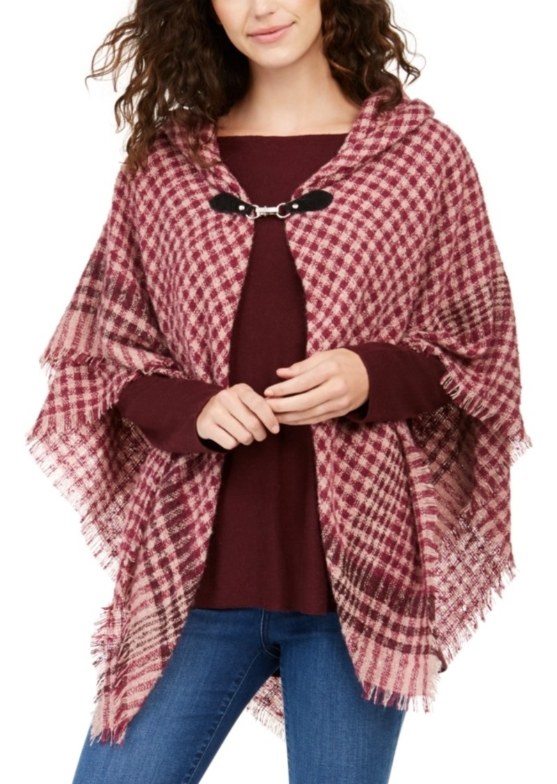 Charter Club Mini-Plaid Toggle Topper Scarf, Created For Macy's