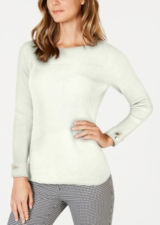 Charter Club Mixed-Direction Stitch Sweater, Created for Macy's