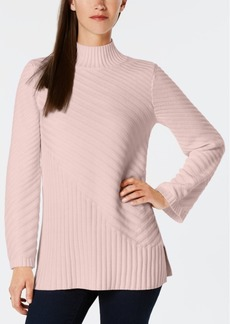 Charter Club Mixed-Stitch Mock-Neck Sweater, Created for Macy's